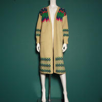 【migration】Native pattern colorful long knit / ネイティブ柄カラフルロングニット
