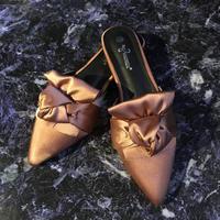 【Selected item】Satin Ribbon Sandal / pink