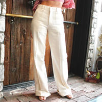 【Used】White high-waist wide pants / ハイウエストワイドパンツ