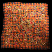 【Used】Paisley checked scarf / ペイズリー柄チェックスカーフ