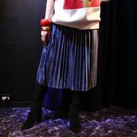 【migration】Velour tuck skirt / ベロアプリーツスカート