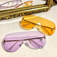 【Selected Item】Clear teardrop sunglasses / mg243 / クリアカラーティアドロップサングラス
