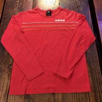 adidas パックプリント有り パイピング ロングTシャツ