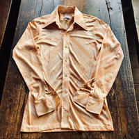 70's L.S.Ayres co 65%Acetate 35%Nylon シャツ
