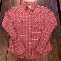 Made in USA Rock Mount ネルウエスタンシャツ
