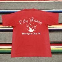 City Lane ボーリング プリント Tシャツ