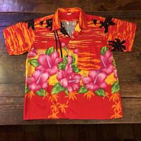 日本製  南国柄 アロハシャツ