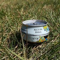 グランドキリンWHITEALEの空き缶ハンドメイドの アルコールストーブセット!