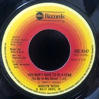 Marilyn McCoo & Billy Davis Jr. / You Don't Have To Be A Star (To Be In My Show) (7″)