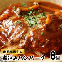 A1005 鹿児島黒牛の煮込みハンバーグ(8個)【送料無料】