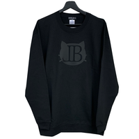 belle belle (ベルベル) BL cat Emblem トレーナー  ブラック