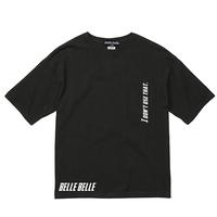 belle belle (ベルベル) I don't use that.ブラック ビッグシルエット Tシャツ(ポケット付)