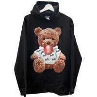 belle belle (ベルベル) Teddy bear Bubble パーカー(茶色) ブラック