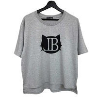 belle belle (ベルベル) BL   cat Emblem  ヘザーグレイ  Tシャツ (レディース)