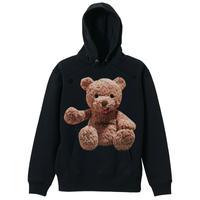 belle belle (ベルベル) Teddy bear Thumb up パーカー(茶色) ブラック