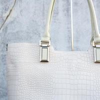 Croco Elegance Tote/IVY