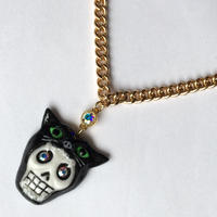 CAT  SKULL GOLDCHAIN ネックレス