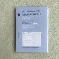 2021年 1月始まり A6 DIARY REFILL type-BX (見開き1週間)