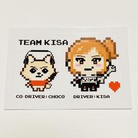 """Team Kisa""ステッカー"
