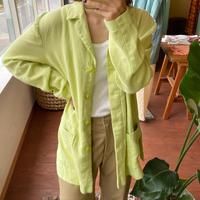 linen lime green  jacket