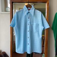 ice blue jacquard  shirt