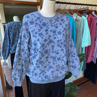 80s flower print sweat