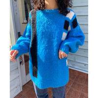 mohair turquoise blue sweater