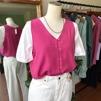 pink no sleeve tops