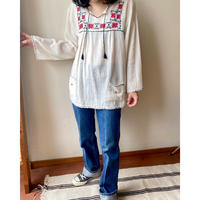Heart pocket embroidery tunic
