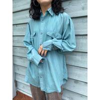 dusty blue silk100% shirt