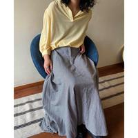 gingham check flare skirt