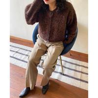 70s talon zip beige wide chino pants