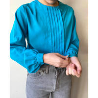 turquoise blue nocollar blouse