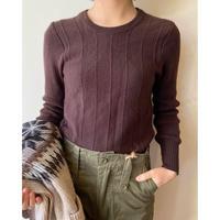 rib short knit tops