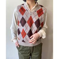 argyle knit vest