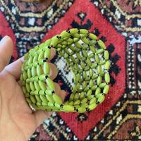 beads bracelet green