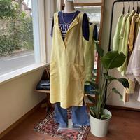 linen yellow one-piece