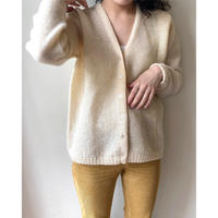 simple white cardigan