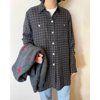 black grid shirt