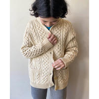 wool cable cardigan