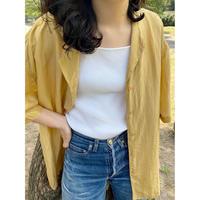 100% silk yellow shirt