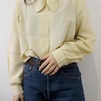 dot lemon yellow  blouse