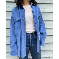 sears blue corduroy shirt