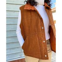 70s corduroy down vest
