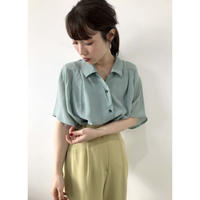 dusty blue opencolor shirt