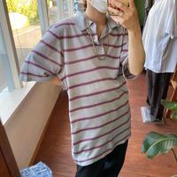 mulch border Knit polo shirt