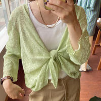 green lace cardigan