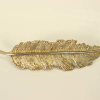 france clip feather barrette