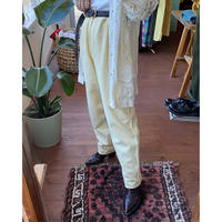 lemon yellow cotton pants