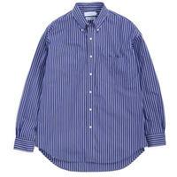 Graphpaper MEN Thomas Mason L/S B.D Shirt NAVY STRIPE GM191-50033B